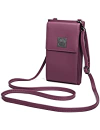 OURBAG Billetera de cuero con estilo de las mujeres Monedero pequeño y lindo Mini bolso de