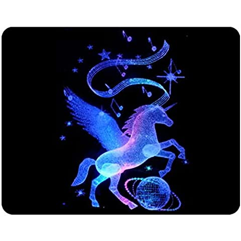 Gaming Mouse Pad Oblong Shaped Crystal Unicorn Personalized Mouse Mat