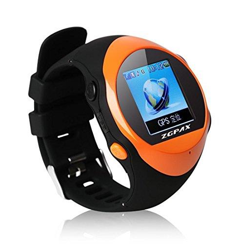 Preisvergleich Produktbild Joyeer Smart Watch für Kinder Kinder oder Old Man Smartwatch mit SIM Slot LCD Touchscreen Anruf Familie SOS Notfall MP3 GPS Position LBS Location , orange