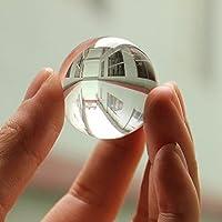 Sunshine D Crystal Ball Sphere,Asian Quartz White Crystal Ball Transparent Clear Natural Healing Ball Sphere