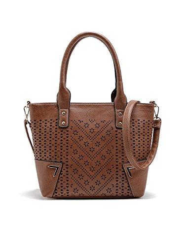 Damen Handtaschen Europäischen Und Amerikanischen Mode Leere Schulter Frauen Handtasche Schräge Kreuz Paket Brown