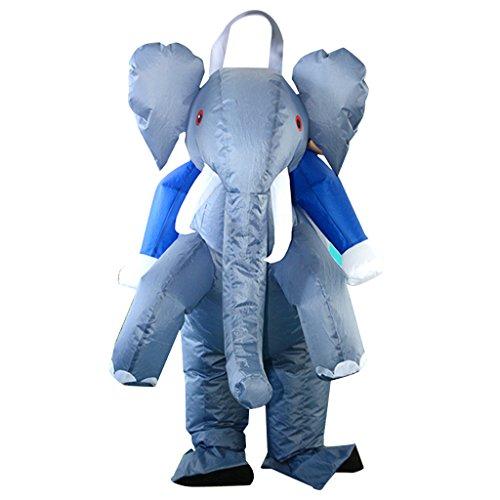 Homyl Elefant Kostüm Cosplay Aufblasbares Kostüm Fatsuit Faschings-Halloweenkostüm, geeignet für - Für Erwachsener Elefant Kostüm