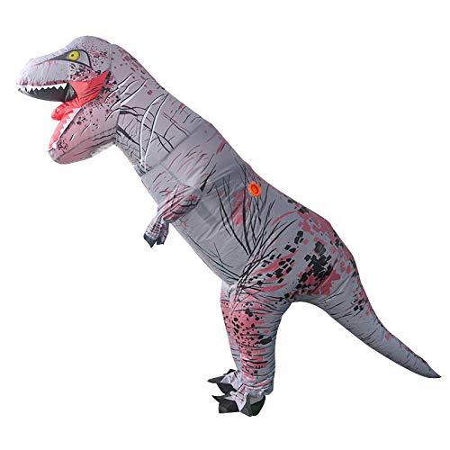 RNGNBKLS T-Rex Aufblasbares Kostüm Für Erwachsene Dinosaurier Blow Up Carnival Halloween Party Ganzkörper,F-150-195cm