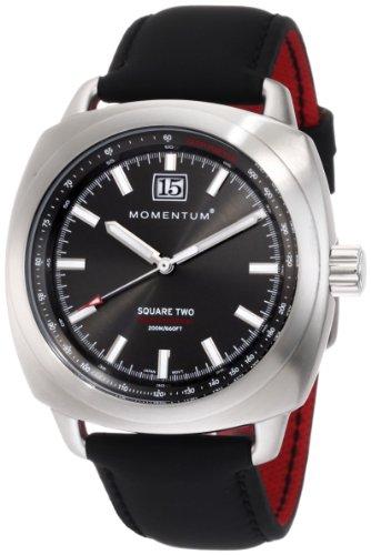 Momentum - 1M-SP68G12B - Montre Homme - Quartz Analogique - Bracelet différents matériaux noir