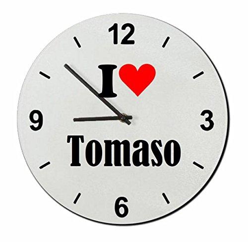 """Exklusive Geschenkidee: Glasuhr """"I Love Tomaso"""" eine tolle Geschenkidee die von Herzen kommt- Uhr- Weihnachts Geschenktipp"""