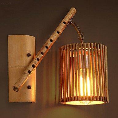 YYHAOGE Protection Oculaire/Modernes Appliques Contemporaine &Amp ; Appliques Pour Boutiques/Cafés Chambre Bambou/Bois 40W Lumière Mur