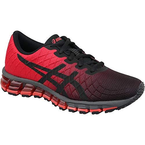 ASICS Gel-Quantum 180 4 GS 1024a020-600, Chaussures de Running Mixte Enfant, Rouge Vif Noir, 37 1/2 EU