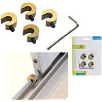 Oryx 5520020 - Protector puertas/ventanas corredera, blister 4 piezas