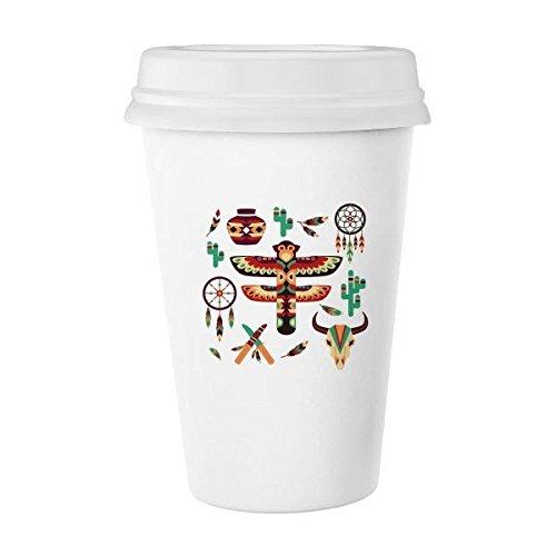Native American Dream Catcher cerámica Indian Totem sacrificio Classic blanco cerámica de cerámica taza de leche taza de café taza 350ml