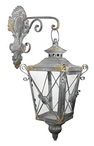 Schöne Deko Straßenlaterne Vintage Stil mit Halterung Laterne Metall Windlicht -