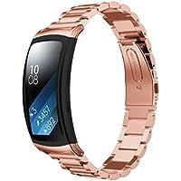 bescita Uhrenarmband-Bügel, echtes Edelstahl-Armband Smart Uhrenarmband-Bügel für Samsung Gear Fit 2 SM-R360