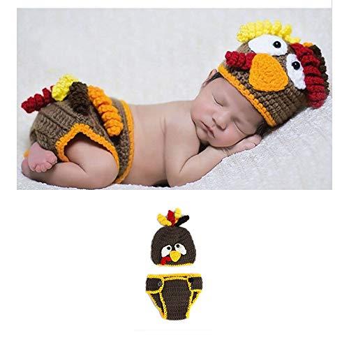NROCF Baby Fotografie Kostüm Requisiten, Küken Form Strickanzug Kinder Foto Requisiten, Geeignet Für 0-3 Monate Baby