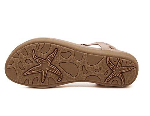 LOBTY Römersandalen Zehentrenner Damen Sandalen Flats Sandalen Flip Flops Gr.35-41 T-Strap Clogs Classic Pantoffeln Damen Sommer Schuhe Hausschuhe Gr.36-40 Pink