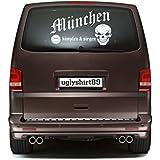 München Autoaufkleber 45 cm | Hardcore | Sticker | Aufkleber | KSM1