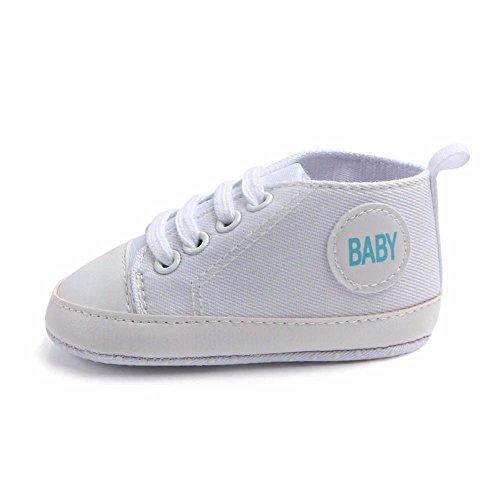 Ginli scarpe bambino,scarpe primi passi scarpine neonato scarpe bambino fila scarpe tela bambino sneaker delle scarpe morbide antiscivolo della tela solida neonate neonata del neonato