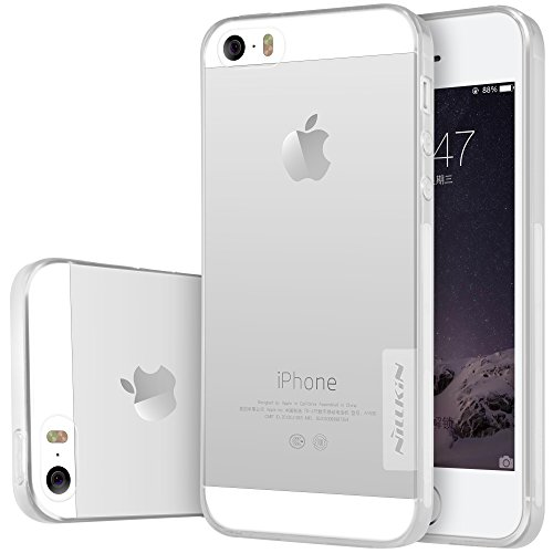 [Accessories Expert] iPhone SE Hülle, Nature Series TPU Hülle Back Cover für iPhone SE - Retail Package -[Transparent Thin Soft],Grau White