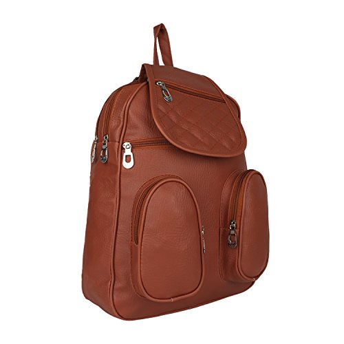 Tarshi Pu Brown Backpack For Women Image 2