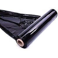 Paquete de 6 rollos de papel elástico de color negro (paquete de 6)