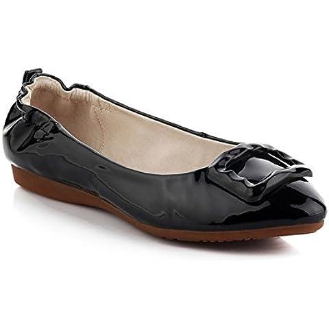 primavera/Zapatos de mujer planos/Pala madre materna rojo suave en el extremo de la zapata/Zapatos de