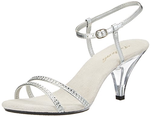 PleaserUSA Sandaletten Belle-316 silber Gr.40 (Silber High Heels Für Mädchen)