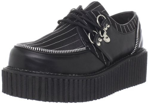 Demonia CREEPER-113 Blk Vegan Leather-Pinstripes UK 6 (EU 39)
