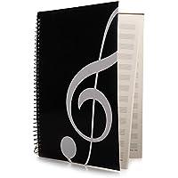 A4 Notenheft Schul Hefte Noten für Musik Unterricht Schwarz 40 Seite NEU