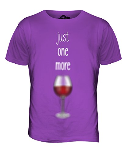 CandyMix Just One More Vino T-Shirt da Uomo Maglietta Viola