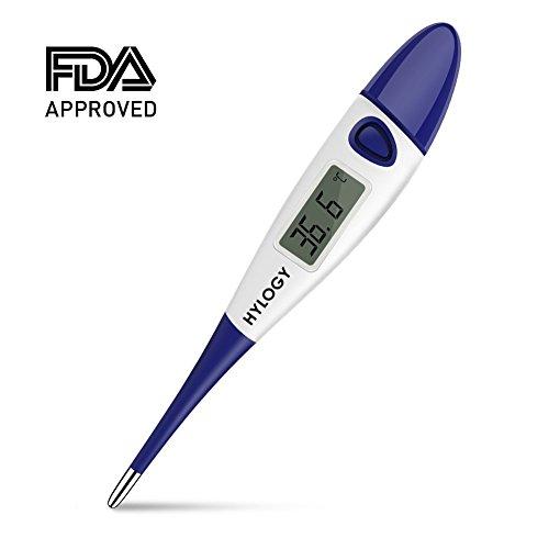 Hylogy Digital Baby Thermometer Medizinische Fieberthermometer, Genaue und Schnelle für Kinder Erwachsene und Haustiere, Rektale Mündliche Achselhöhle 3in1, Flexible spitze FDA&CE Genehmigt (Spitze Flexible Weiche)