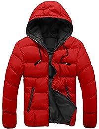 Ineternet Hommes Slim Casual chaud vers le bas veste à capuchon hiver épais  manteau Parka Doudoune 4ba95ec002a2