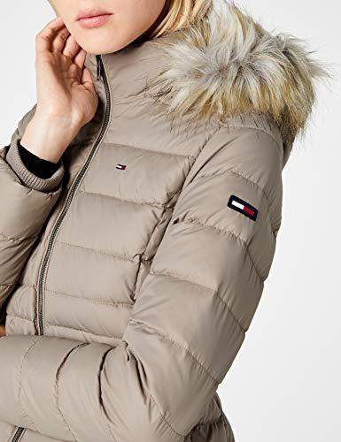 Tommy Jeans Hilfiger Denim Damen Mantel THDW Basic Coat 3, Beige (Fungi 004), X-Small - 6