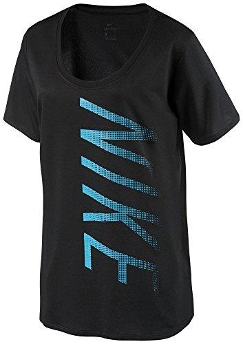 Nike Dry Leg Scoop Shirt, Damen M Schwarz (Tee Schwarzer Ausgestattet)