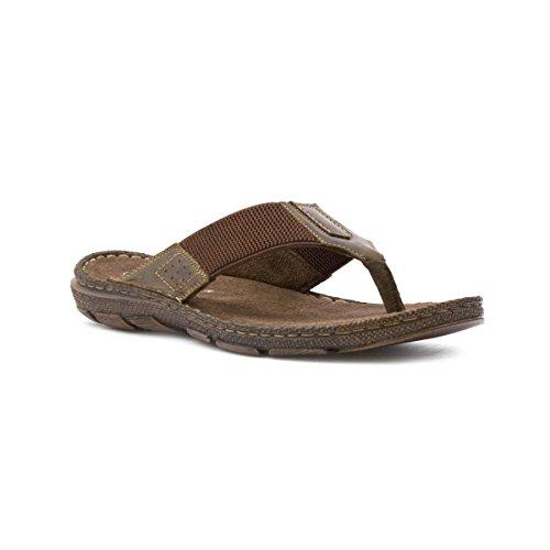 Lotus Mens Brown Toe Post Sandal - Size 10 UK - Brown