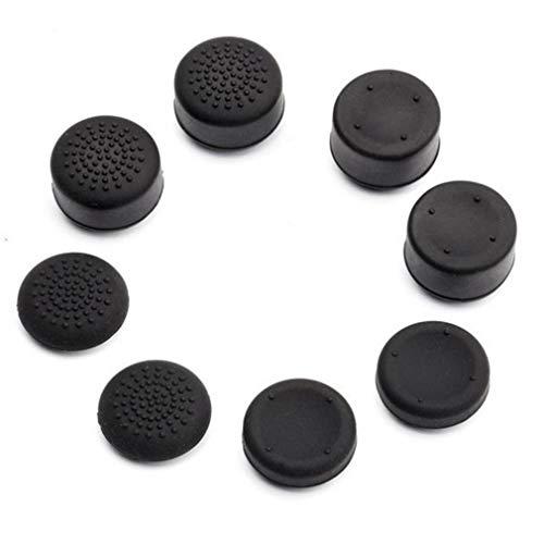 DERNON 8pcs Controller Zubehör Thumb Stick Grip Joystick Kappe für PS3 PS4 Xbox ONE schwarz
