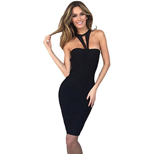 meinice-black-strappy-cutout-halter-top-bandage-dress-l
