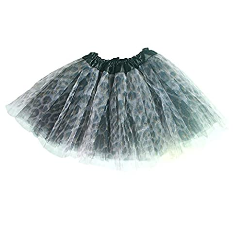 Imixcity Bébé Fille Enfants Organza Tutu Toddler Jupe Ballet Danse Party Costume Mode (Léopard)