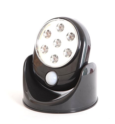 Motion Activated Coloured LED Lights - Black - Cordless Lighting - Indoor and Outdoor Use - 3 Packs Motion-activated Light Switch