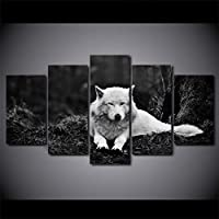 KQURNXSL Modern Wall Art Paintings HD home decoration 5 panels animals Wolf living room canvas print Pictures Modular picture