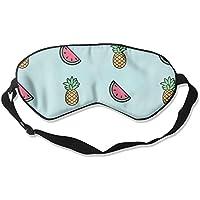 HOJIKD Maulbeer Seide Schlafmaske und Augenbinde–Ananas Wassermelonen Bequem und Super Glatte Augenmaske mit... preisvergleich bei billige-tabletten.eu