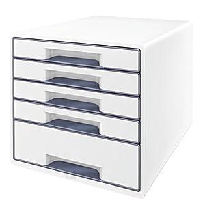 Leitz Schubladenbox WOW CUBE 5 Schubladen, Weiß