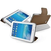 VEO | Funda Para [ Samsung Galaxy TAB 3 7.0 ] Ultra Fina Magnética Smart Case Ligera, MARRÓN