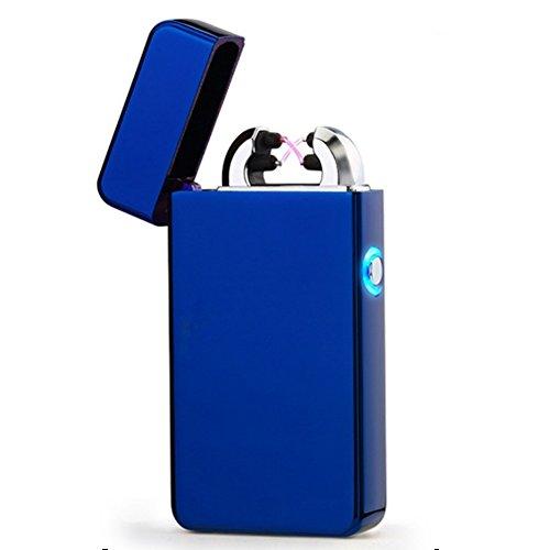 SWAMPLAND USB Elektronisches Feuerzeug Aufladbar Lichtbogen windfest Double Arc Feuerzeug Zigarette