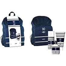 A medida By Umbro Azul Mochila Set 150ml cuerpo spray, gel de ducha 150ml & 75ml colonia