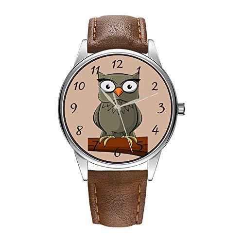 tex-Quarz-Uhr für Männer berühmte Luxus-Armbanduhr Quarzuhr für Werbegeschenk Animierte Eule Armbanduhr ()