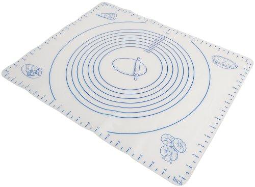 Image of Norpro Ausrollmatte aus Silikon mit Maßnahmen, weiß