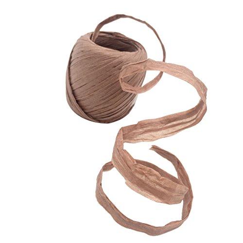 Homyl 20m Naturbast Raffiabast Bast Bindebast Papierschnur Geschenkpapier Bänder Papierkordel zum basteln dekorieren - Cameo braun