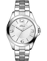 s.Oliver Damen-Armbanduhr Analog Quarz Edelstahl SO-2968-MQ