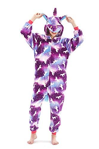 Tier Karton Kostüm Karneval Pyjama Tierkostüme Jumpsuit Erwachsene Schlafanzug Unisex Cosplay (XL(Höhe175-182CM), Lila-2)