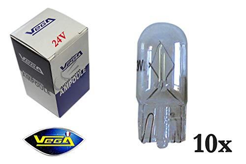 10 ampoules Vega® W5W T10 Halogène\