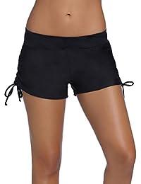 YoungSoul Shorts de baño para mujer - Bikinis de pantalon boardshorts deportivos - Trajes de baño para playa - Braguitas de bikinis