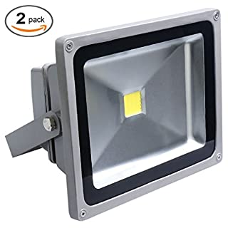 Auralum 2er-Pack 50W LED Fluter Außenstrahler, 4500 Lumen 230V IP65 Wasserdicht 6000K Kaltweiß, 10 Jahre Garantie